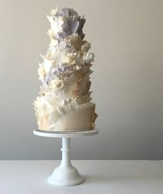 Jasmine Rae Cakes / Ruffle Wedding Cake / Designer Wedding Cake / View more: http://thelane.com/brands-we-love/jasmine-rae-cakes