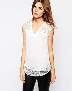 embroidered organza insert top / asos
