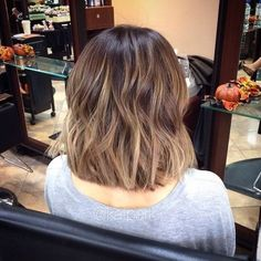 Dark Blonde Balayage Short Hair