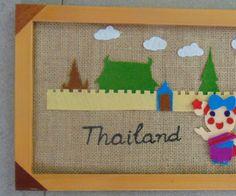 Miss La Sen in Thai clothing burlap and felt craft