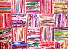 Suite graphisme la ligne en MS chez Mu – école petite section – kindergarden School Fun, Art School, School Projects, Art Projects, Petite Section, Art Plastique, African Art, Art Techniques, Art Education