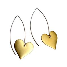 Single Heart Earrings now featured on Fab.