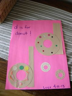 Letter D Arts And Crafts For Preschoolers Preschool Letter Crafts, Alphabet Letter Crafts, Abc Crafts, Daycare Crafts, Preschool Crafts, Preschool Names, Letter Art, Alphabet Activities, Literacy Activities