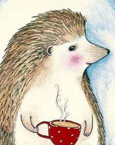 Hedgehog print from Marmeecraft. $8