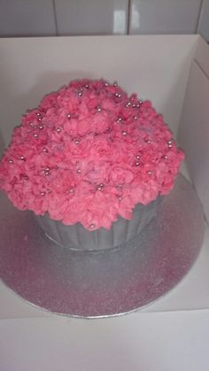 Pink giant cake