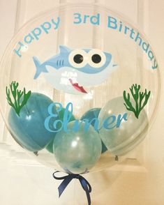 Inflated personalised Baby Shark themed balloon/custom | Etsy