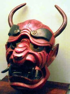 ONI horned devil Japanese Masks 1296