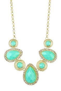 Mint Teardrop Crystal Necklace