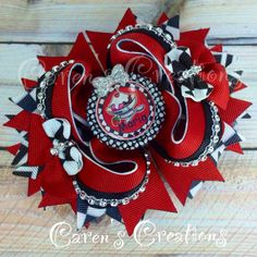 M2M hair bow, stacked bow, stacked boutique bow, customer request, ice cream themed, birthday party