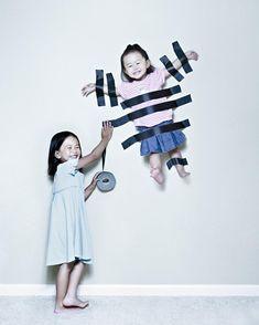 Papà creativo scatta foto pazze delle sue bambine
