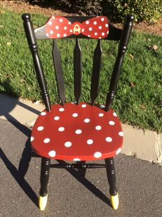 A personal favorite from my Etsy shop https://www.etsy.com/listing/521083794/minnie-mouse-chair-made-to-order-and