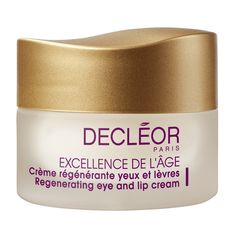 Decleor Excellence de l'Age Regenerating Eye and Lip Cream 2 for 1 special -- a double duty eye and lip cream Best Night Cream, Best Eye Cream, Anti Aging Cream, Anti Aging Skin Care, Dark Circles Around Eyes, Lip Contouring, Lip Shapes, Eye Wrinkle, Centella