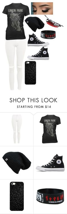 """""""Untitled #56"""" by mini-lucifer ❤ liked on Polyvore featuring Topshop, Converse and Hot Topic"""