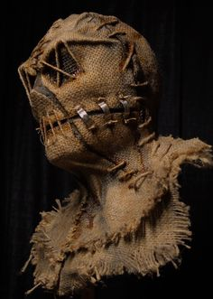 Grim Stitch Factory's unique scarecrow masks are literally wearable art; Scarecrow Mask, Halloween Costumes Scarecrow, Amazing Halloween Costumes, Halloween Masks, Spooky Halloween, Halloween 2019, Halloween Stuff, Creepy Masks, Cool Masks
