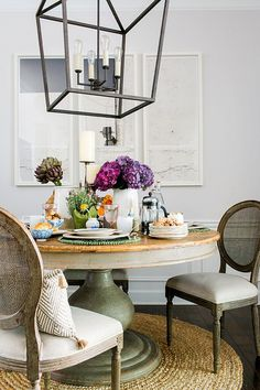 A French bistro inspired table via Waiting on Martha