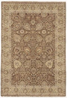 """Hand Knotted Indian Rug - 4'4""""x 6'3"""""""