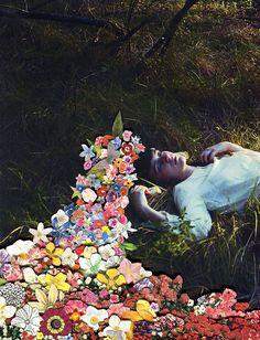Los preciosos y florecidos collages del joven Ben Giles.                        — Ben Giles — Tumblr Facebook www.last.fm/user/ben1ben2 Etsy Society 6