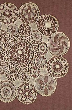 Detail from a Sol or Tenerife lace matlinen thread20th century