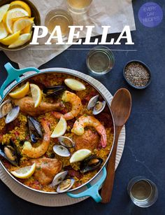 Paella ... perfect for a crowd. | Or just me and a 4-pack. You know.