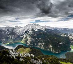Panoramablick über den Königssee, #Bayern #Bavaria