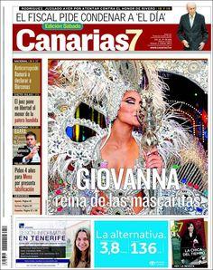 Los Titulares y Portadas de Noticias Destacadas Españolas del 2 de Febrero de 2013 del Diario Canarias 7 ¿Que le parecio esta Portada de este Diario Español?