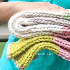 Make a cute, cuddly, handmade baby blanket in simple stockinette stitch. Quick and easy project!