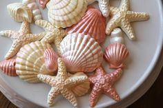 How to make molded candy seashells. (Girl. Inspired.). Pretty and they look so real.