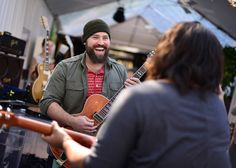 Zac Brown & Brittany Howard from Alabama Shakes Jammin in the GRAMMY Celebrity Gift Lounge! - at the 55th GRAMMY Awards featuring the Jäger Line!