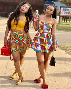 Chic Ankara dress styles can be worn to different occasion and you won't feel out of place. In fact chic Ankara dress styles coordinated with complementing accessories have a way of enhancing your overall look. African Wear Dresses, Latest African Fashion Dresses, African Print Fashion, Africa Fashion, African Attire, Ankara Fashion, African Prints, African Fabric, Trendy Ankara Styles
