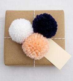 Pompom Gift Topper | Whatever the occasion, if it calls for a present, we're willin... | Cake Decorating Supplies