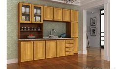 Cozinha Modulada Completa 4 Módulos Classic Cerejeira/Desenho Granito Alicante - Móveis Kochhann | Lojas KD
