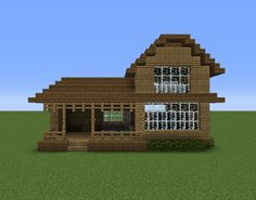 Wooden House 16 - GrabCraft - Your number one source for MineCraft buildings, bl. - Explore the best and the special ideas about Cool Minecraft Houses Minecraft Mods, Minecraft Building Designs, Minecraft Barn, Plans Minecraft, Architecture Minecraft, Casa Medieval Minecraft, Minecraft Houses For Girls, Minecraft Houses Xbox, Minecraft Houses Survival