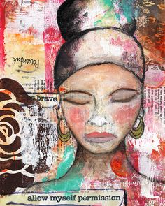 Brave Giclee Reproduction From Original Mixed Media by Ginger Deverell, RedPearCreative, $23.18