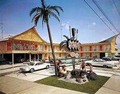 Tahiti Motel 7411 Atlantic Avenue (1963). Original owner: Robert Gerhardt Jr.  Doo Wop style: Tiki/Polynesian. (Demolished in December of 2004.