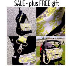 Tote/Diaper Bag Limited Edition Lime Green/Grey with white and lime gr | Maxwell Designs #maxwelldesignswishlist