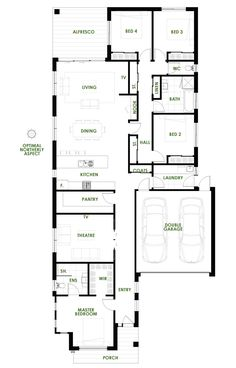 The Bronte offers the very best in energy efficient home design from Green Homes Australia. Take a look at the four bedroom floorpan here.