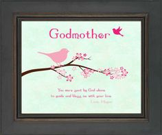 Personalized GODMOTHER Gift  Baptism Gift by KreationsbyMarilyn, $15.00