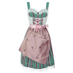 Couture Midi Dirndl Pati in Grün von ENA Trachten, Größe:M;Farbe:Grün: Amazon.de: Bekleidung