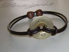 $10 matching bullet bracelet to the earrings! love this. 12 Gauge Bracelet by Cajleatherdesigns on Etsy