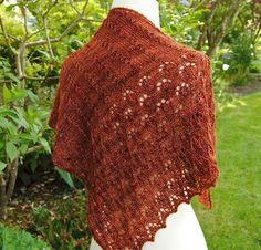 Wine & knitting shawl