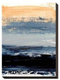 Art.com Abstract Minimalist Landscape 5 by Iris Lehnhardt Stretched Canvas Print