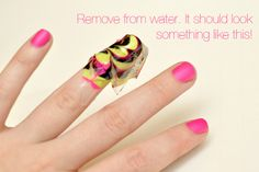 how to marble your nails! really cool