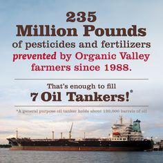 The power of organic! #organicvalley #positiveimpact