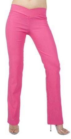 Sexy Chic Stretch Skinny Pant with Flirty V-Waistline from Hot Fash Pants - SIENNA Fuchsia Hot Fash. $29.99