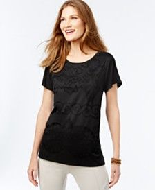 INC International Concepts Lace T-Shirt, Only at Macy's