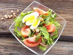 Salad with tuna, arugula and egg   Gotowanie ze Stylem