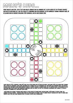 Lav selv Ludo spil med Maliq - print og spil! Grammar Activities, English Activities, Games For Kids, Art For Kids, Printable Board Games, Team Building Games, Ice Breakers, Brain Breaks, Diy Games