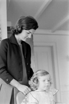 "Jackie and Caroline. ""I don't care about skeptics talking about how Jackie had nannies. She must have been more hands on with them for look how well they turned out."" ~ LM"