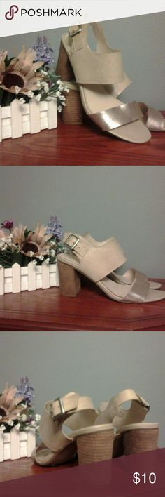 "FRANCO SARTO GOTHIC BLOCK HEEL SANDALS Nice sandals with 3""  thick wooden heels goes very well with those summer outfits Shoes Sandals"