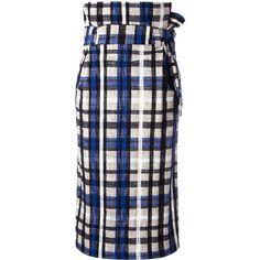Erika Cavallini Carson skirt (€245) ❤ liked on Polyvore featuring skirts, multicolor, multi colored skirt, colorful skirts, multicolor skirt and multi color skirt